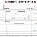 Printable Path to Glory Forms 1