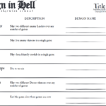 Reign in Hell Title Tracker